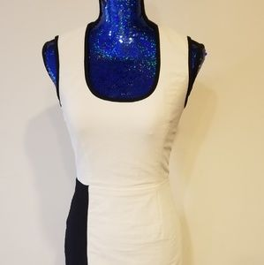 Yigal Azrouel black and white dress